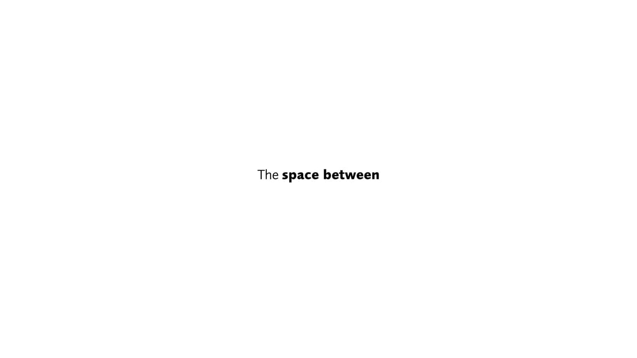The spaces between – Nowhere